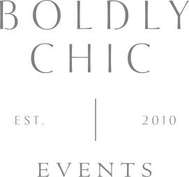 Boldly Chic Events logo